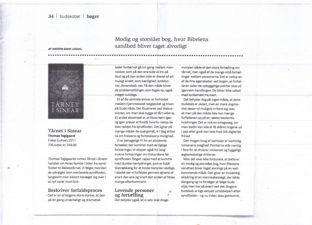 Anmeldelse af Tårnet i Sinear i Budskabet